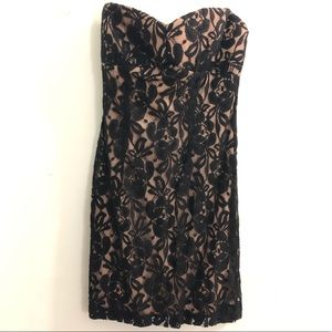 Forever 21 Lace Bodycon Dress (Strapless)